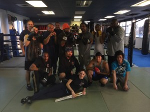 Group picture from boxing class
