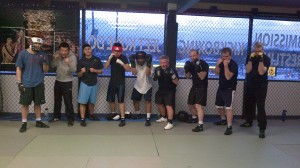 Group picture of boxing class