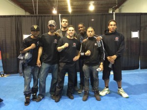 Group picture of boxing team at Justin's Fight